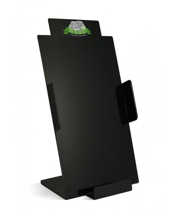 Stojak na ulotki DL z logo czarny