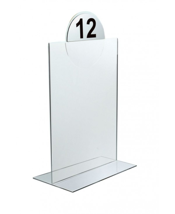 Stojak na ulotki A6 typ T z logo stojak informacyjny stojaki podajnik