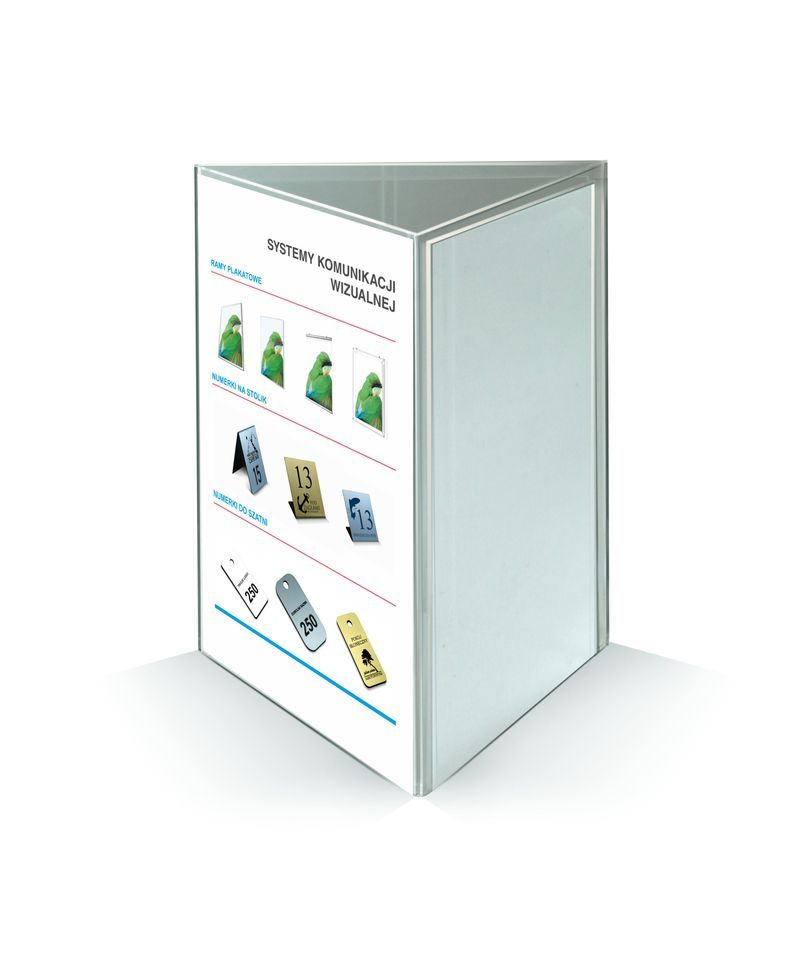 Stojak na menu A6 trójkąt
