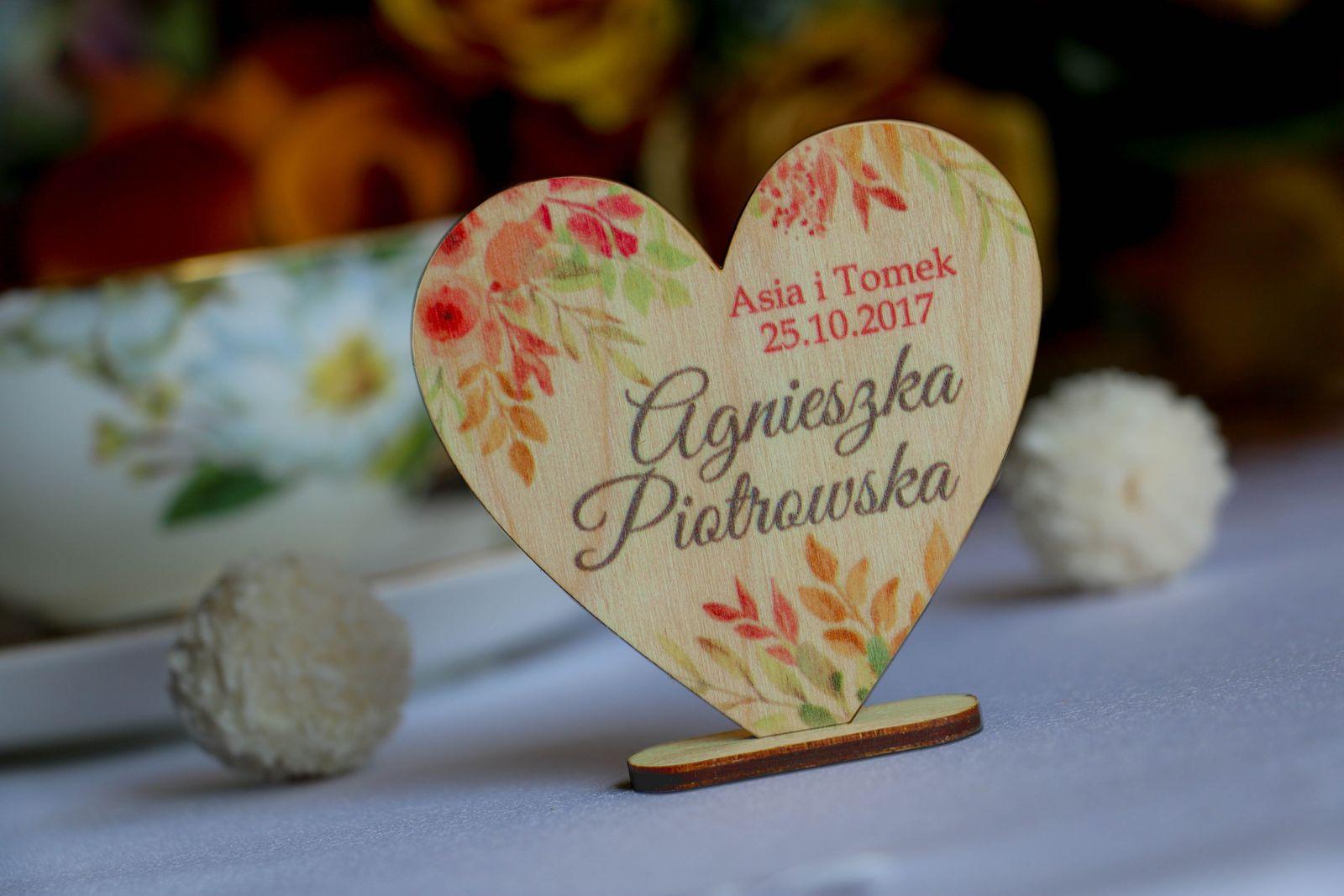 Winietki na stół na wesele
