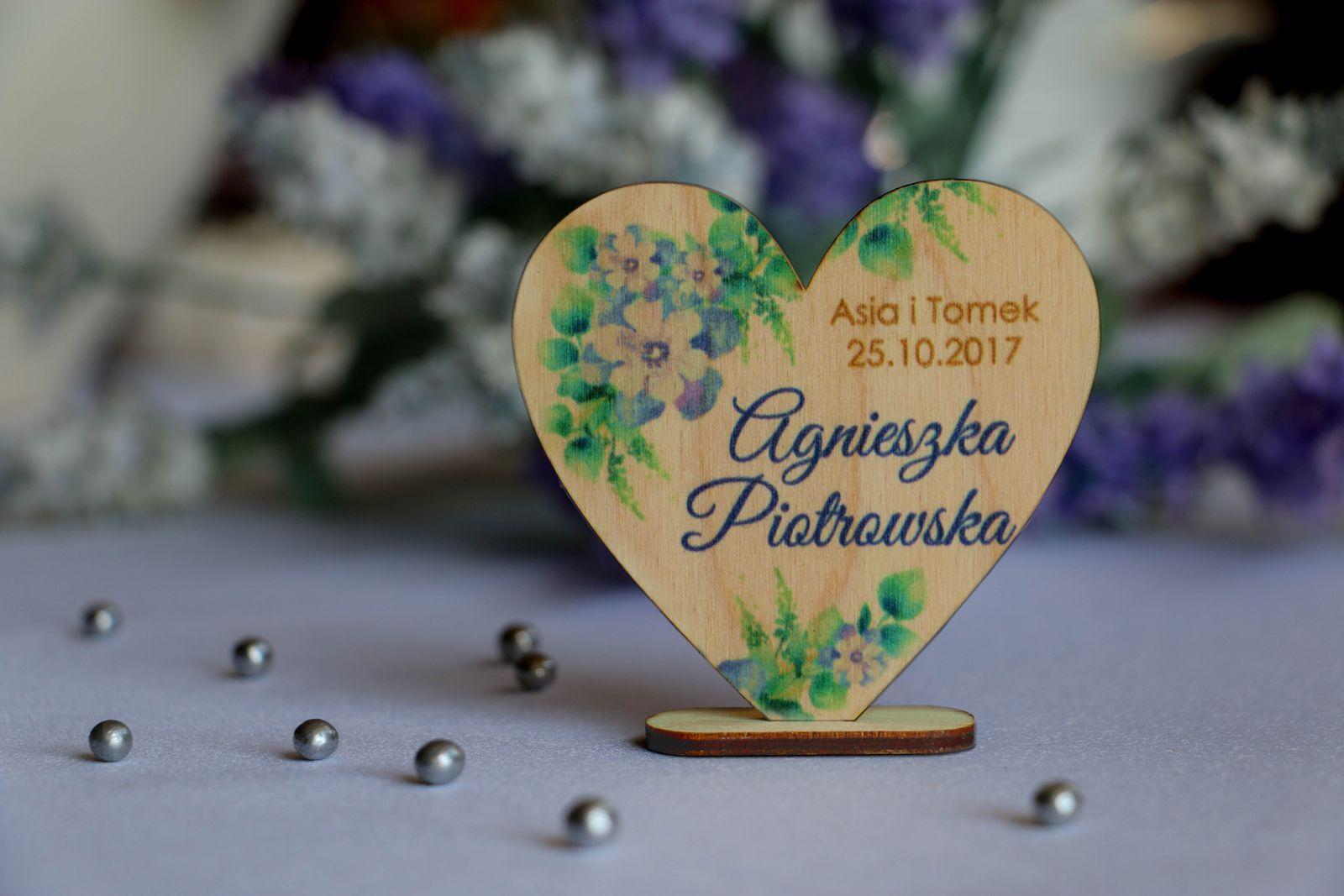 Winietki na stół ślubny