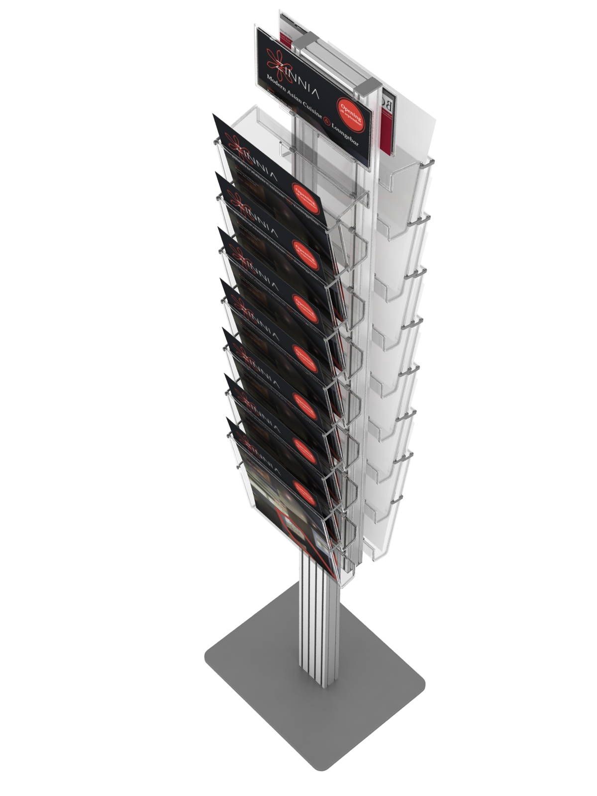 Podłogowy stojak na ulotki a4