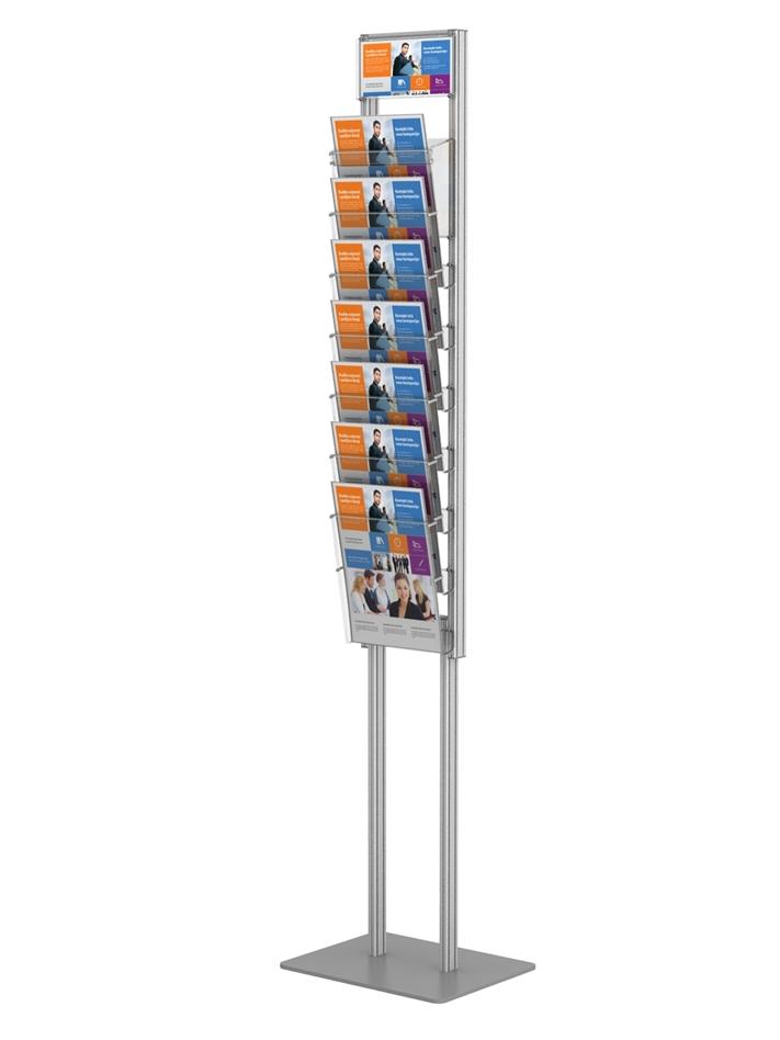 Składany prezenter / stojak na ulotki 7 x A4